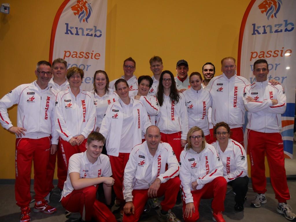 Budel NK Masters team 2016 korte baan
